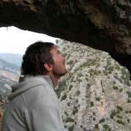 Rock climbing arch in Rodellar
