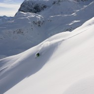 Pre-season powder on the smooth hills in St Anton am Arlberg winter 12/13