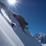 Great snow from Aiguille de Tacul
