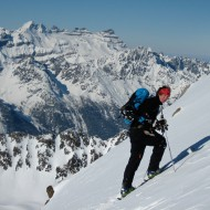 Skinning towards Pointe de Bron