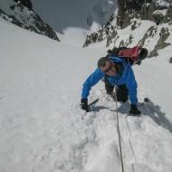 Climbing towards Breche Piuseux