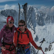 Summit of Aiguille d'Argentiere, almost at 4000m