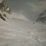 800m of 45 degree steep skiing
