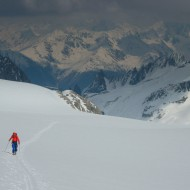Up the Saleina glacier towards Col de Chardonnet