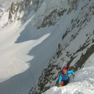 Climbing up the north side of Col de Chardonnet