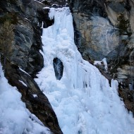 Right start of Cascade de Lillaz, 8 Jan