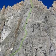Cordier Pillar Grand Charmoz topo
