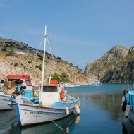 Lovely fisherman Villages outside the main tourist streak of Masouri. Swim and eat whatever came up from the sea today.