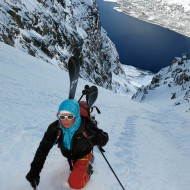 "A long boot pack in the ""Godmother of all couloirs"""