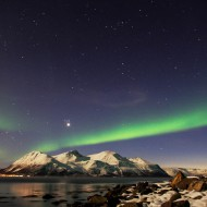 Northern lights in Lyngen Alps