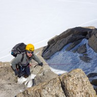 Moving together on alpine ridge