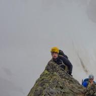 First alpine ridge climb