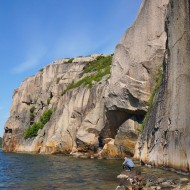 Ulorna swimming between climbs
