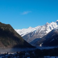 Air pollution like a poisonous snake in Chamonix valley