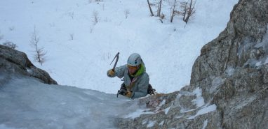 Climbing Easy Ice Falls Around Chamonix