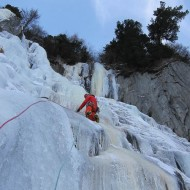 Ice climbing above Trient
