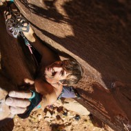 Indian Creek off-width climbing