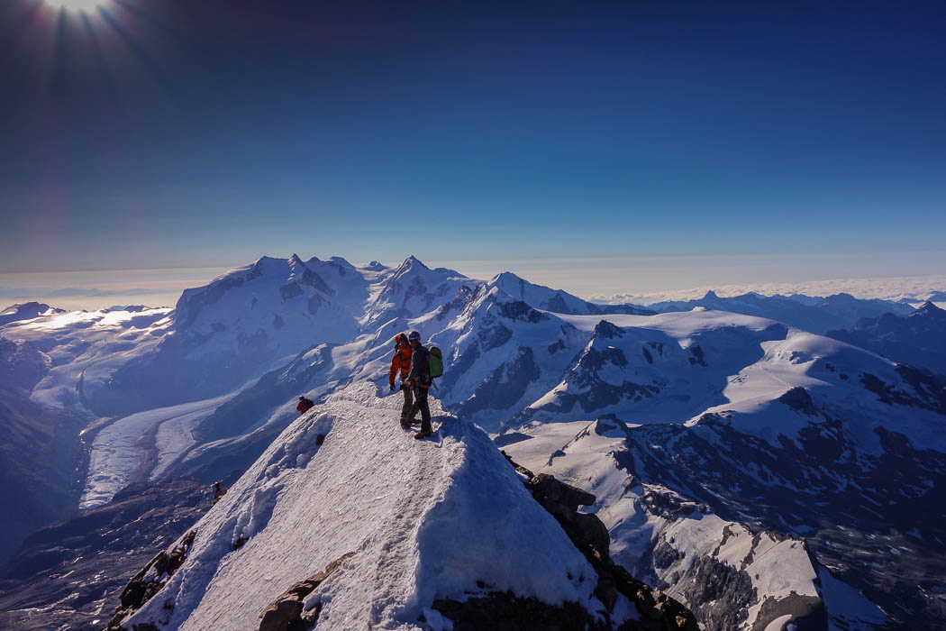 Swiss summit of Matterhorn