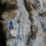 Climbing in Trebenna, the shady side of Geyikbayiri