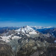 View of the Swiss Valais 4000ers from Matterhorn summit