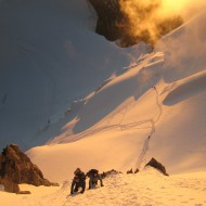 Sunrise on Mt Maudit