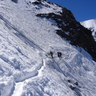 Crossing the Grand Couloir