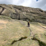 ...eventually leading us to lower angle ground, and the green slab of pitch 10