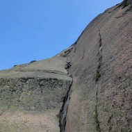 like this it goes on, with enjoyable 6a crack climbing
