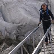 Stepping off the Grenz gletscher