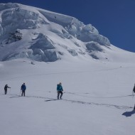 Walking down the Grenz glacier