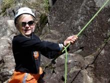 Family rock climbing Chamonix