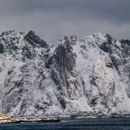Lofoten wild mountains