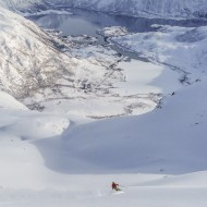 Lofoten powder skiing