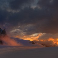 Aiguille du Midi at sunrise