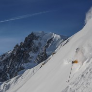 Skiing Vallee Blanche - Aiguille du Midi