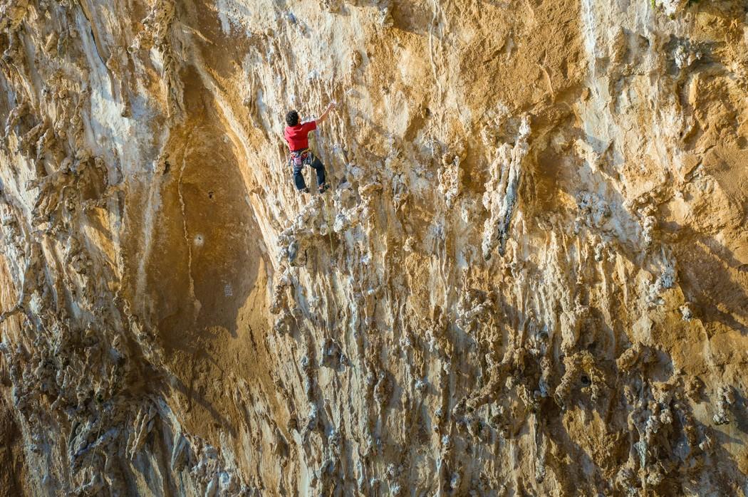 Grande Grotta Kalymnos climbing