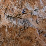 Dougal on Punta Carmelo, Grande Grotta.