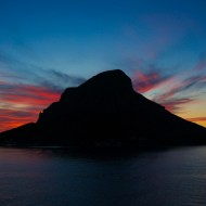 Sunset behind Telendos