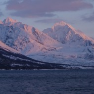 The big peaks of northern Lyngen seen from the lodge