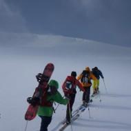 Uphill in Lyngen
