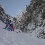Bootpacking couloir with no end