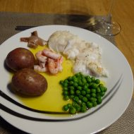 Self-cought cod for dinner at Lyngen ski lodge