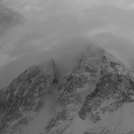 Moody mountains Lyngen Alps