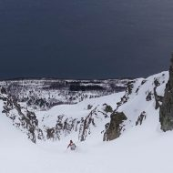 Couloir skiing Lyngen Alps