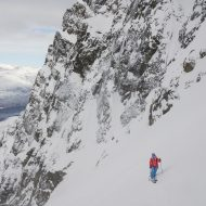 Ski touring in southern Lyngen Alps