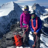 Thor and Fatima - Eiger summit