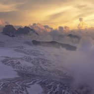 Sunset from Dent Blanche hut