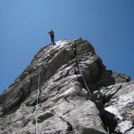 Descent via normal route on Aig Dibona