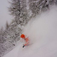 Calm and deep on Grands Montets, Chamonix