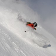 December skiing on lower parts of Helbronner